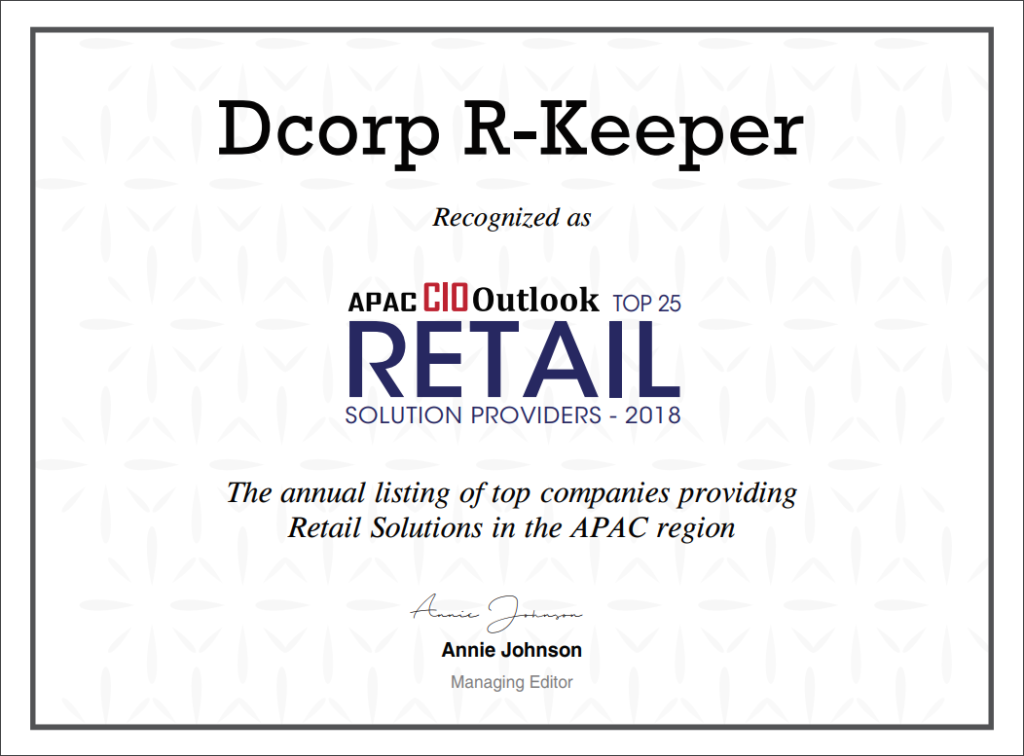 Dcorp R-Keeper Top 25 APAC